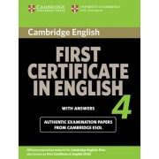 Cambridge First Certificate in English 4 for Updated Exam Student's Book with Answers by Cambridge ESOL