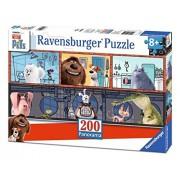 Ravensburger Italy 12834 - Puzzle per Bambini Secret Life of Pets, 200 Pezzi Panorama