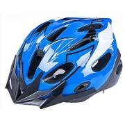 BeBeFun Safety Adjustable Size Kids Helmet for Boy Child Kid Skating Biking Mini Bike Riding Multi-Sports Lovely Helmet 3-7 Years Old Lightning Theme with Visor (Blue &White)