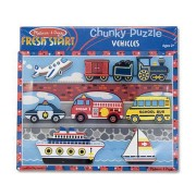 Melissa & Doug Vehicles Chunky Puzzle - 3725