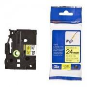 Етикетна лента Brother TZ-EFX651 Tape Black on Yellow, Flexible ID, 24mm, 8m - Eco, TZEFX651