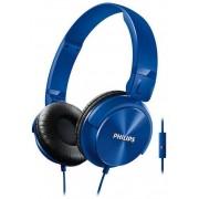 Casti Stereo Philips SHL3065BL, Microfon (Albastru)