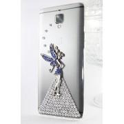 Kiintymys Handmade Designer Bling 3D Flying Angel Acrylic Case for Xiaomi MI 4I