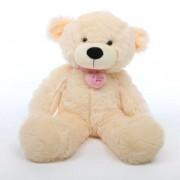 2 feet big peach teddy bear with pink neck I Love You Heart