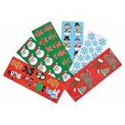 Christmas Holiday Sticker Assortment~Almost 1000 Stickers~Gingerbread Man Santa Snowflake Penguin Christmas Tree Candy Cane Snowman Christmas Stocking and more....