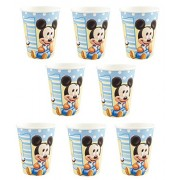 Disney 1st Mickey Mouse Birthday Party 9oz of 16x Paper Cup ~ Birthday Party Supplies Favors