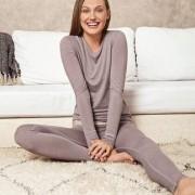 Active-Wool Wäsche von Skiny, Damen, 40 - Taupe - Langarm-Shirt