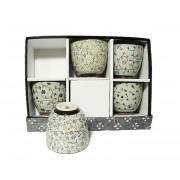 Set 5 Cupe pentru Ceai lucrate Manual
