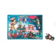 Janod - J07073 - Puzzle Bois Musical Space Motion 7 pcs