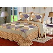 Cuvertură de pat Valentini Bianco A810 Patch