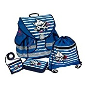 Capt'n Sharky Seven Seas Ergo Style Plus Schoolbag Set, 38 x 37 x 23 cm, Model# 10589