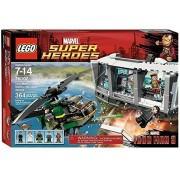 Lego Superheroes (364pcs) Iron Man Malibu Mansion Attack Toy For Kids Figures Building Block Toys