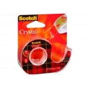 Banda Adeziva 19mm x 7.5m cu Dispenser Scotch Crystal