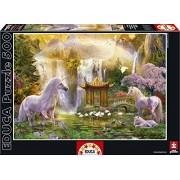 Educa 16270 - Puzzle 500 Pezzi, Tematica Unicorno Valle Delle Cascate