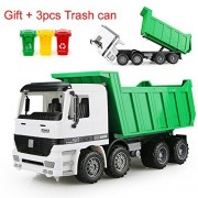 AITING Children Inertia Tipper Truck Transport Car Model Sandbox Vehicle + Gift3pcs Trash can