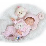 52 Cm De Couchage Doux Vinyle Bébé Poupées Reborn Corps Silicone Bébé Reborn Poupées Filles Bebe Reborn Com Corpo De Silicone