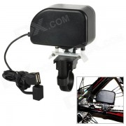 ME-0378 1000mAh bicicleta generador / cargador para telefono celular - negro