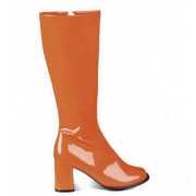 Vegaoo Orange Lackstiefel für Damen