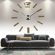 home decor quartz diy wall clock clocks horloge watch living room metal Acrylic mirror 20 inch (?Chocolate color)