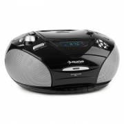 Auna RCD 220 CD Boombox casetofon USB Reglaj radio FM MP3 2x2W negru (MG9-RCD220 BK)