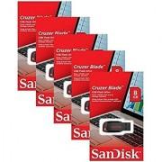 Sandisk Cruzer Blade 8Gb (5 Pack) Sdcz50-008G Usb 2.0 Flash Drive Jump Drive Pen Drive Sdcz50 - Five Pack