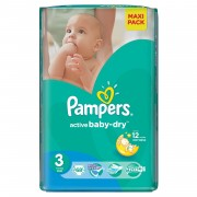 Scutece Pampers Active Baby 3 Value Pack 68 buc