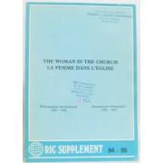 The Woman In The Chruch -La Femme Dans L'église, Bibliographie Internationale 1975-1984 International Bibliography 1975-1984 (Ric Supplément 94-95)