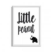 Little peanut zwart wit poster babykamer