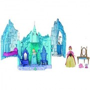 Maven Gifts: Disney Frozen Small Doll Elsa and Magical Lights Palace Playset with Small Frozen Anna Doll Magiclip Giftse