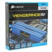 Memorie Corsair Vengeance Low Profile Blue 32GB (4x8GB) DDR3 PC3-12800 CL10 1600MHz 1.5V XMP Dual Channel Kit, CML32GX3M4X1600C10B