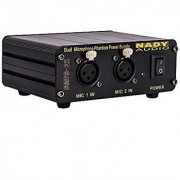 Nady SMPS-2X 2-Channel 48V Phantom Power Supply for Condenser Microphones