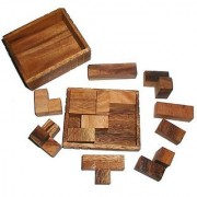 Patience Box Wood Brain Teaser Puzzle size MED - one of the most versatile puzzles!
