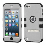 Funda Protector Triple Layer Apple Ipod Touch 5G / 6G Gris / Negro c/pie metalico