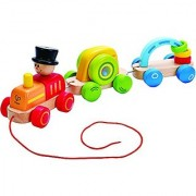 Hape - Early Explorer -Triple Play Wooden Train Set