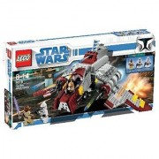 New model from Clone Wars never done before-Includes Mace Windu Clone Pilot and Clone Trooper minifigures-Features co