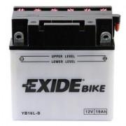 Exide YB16L-B 12V 19Ah motorkerékpár akkumulátor JOBB+