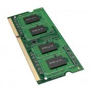 PNY Premium - DDR3 - 2 Go - SO DIMM 204 broches - 1333 MHz / PC3-10660 - CL9 - 1.5 V - mémoire sans tampon - non ECC
