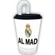 Real Madrid szívószálas pohár
