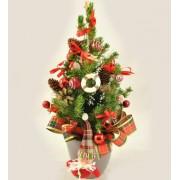 Brad in ghiveci cu ornamente - 30 cm