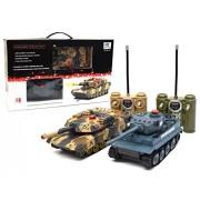 JOGOTO RC Radio Control Remote Control Battling Fighting Tanks - Set of 2 Full Size Infrared Battle Tanks