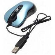 Мишка A4tech N-61FX-3 Жична мини мишка, синя, с прибиращ се кабел - A4-MOUSE-N-61FX-3