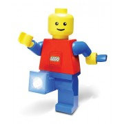 Play Visions Lego Hand Crank Dynamo Flash Light Torch Giant Lego Man Stands 7.5 Tall (Colors May Vary)