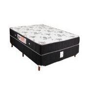Conjunto Box Colchão Orthoflex D80 Potenza + Cama Courino Black - Conjunto Box Casal - 138 x 188