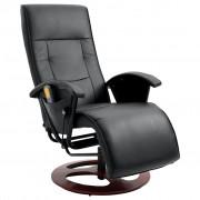 vidaXL Elektrické televizní masážní křeslo černé