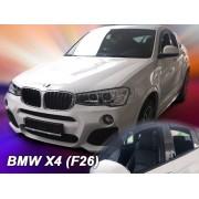 Deflektory komplet 4 ks - BMW X4 (F26), 2013-
