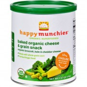 Happy Baby Happy Munchies Baked Organic Snacks - Cheese and Veggie - Case of 6 - 1.63 oz