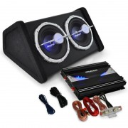 "Auna Car Hifi Set ""Black Line 140"" Subwoofer amplificador 2800W"