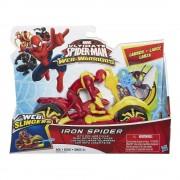 Web-Warriors Iron Spider figura, motorral