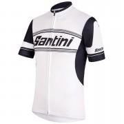 Santini Tau Short Sleeve Jersey - White - L