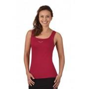 Trigema Damen Träger-Shirt mit Swarovski® Kristallen Größe: M Material: 95 % Baumwolle, Ringgarn supergekämmt, 5 % Elastan Farbe: rubin